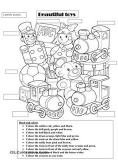 toys worksheet - Buscar con Google
