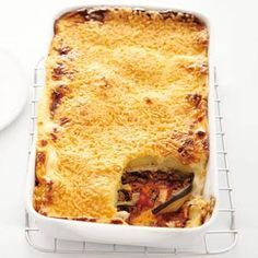 Recept - Moussaka - Allerhande Lamb Recipes, Greek Recipes, Cooking Recipes, Musaka, Rice Side Dishes, Tasty, Yummy Food, English Food, I Love Food