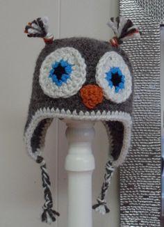 Owl hat, crochet hat, kids crochet @Phyllis Linz