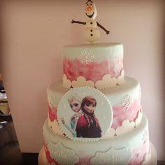 Bolo Falso Frozen!!