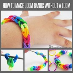 Easy loom band tutorial: how to make loom bands without a loom.