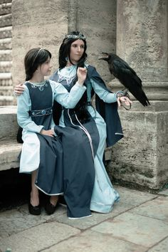 Hogwarts Founders Rowena and Helena Ravenclaw cosplay by Founders4 creative team << Just wow