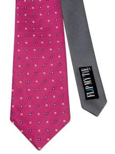 Flipmytie - Men's Hot Pink Reversible Tie , $24.99 (http://www.flipmytie.com/mens-hot-pink-reversible-tie/)