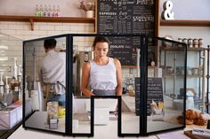 APG Guardiant Shield ,a Plexiglass Sneeze Guard for Retail, Hospitality and Quick Serve Environments Restaurant Interior Design, Diy Interior, Cafe Interior, Retail Interior, Store Displays, Retail Displays, Merchandising Displays, Window Displays, Sneeze Guard