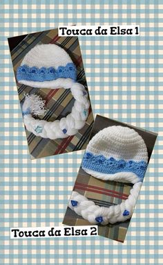 Touca em crochet da Princesa Elsa do filme Frozen