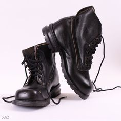 80s Army Combat  Boots / Leather Distressed Boots by BetaPorHomme, $68.00