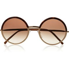Cutler and Gross Round-frame metal and acetate sunglasses (8,715 MXN) ❤ liked on Polyvore featuring accessories, eyewear, sunglasses, glasses, jewelry, uv protection sunglasses, round acetate sunglasses, acetate sunglasses, tortoiseshell sunglasses and round frame glasses