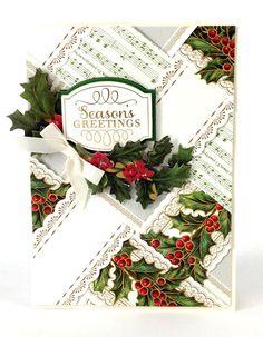 Anna Griffin DIY:  Season's Greetings Paper Weaving Card