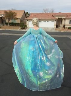 Queen Elsa Frozen Cape by ShakespearesWorkShop on Etsy, $55.00