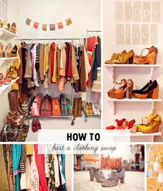 How To Host A Clothing Swap....or Inspiration For Organizing Your Closet
