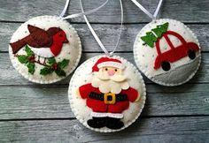Christmas Fair Ideas, Gingerbread Christmas Decor, Crochet Christmas Decorations, Felt Decorations, Christmas Ornaments To Make, Christmas Sewing, Felt Ornaments, Christmas Crafts, Christmas Nativity