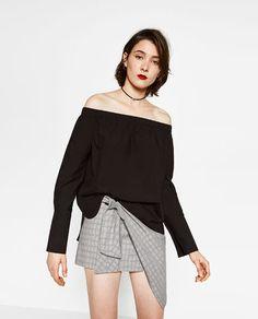 Image 2 of POPLIN TOP from Zara
