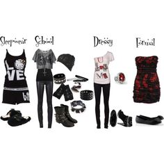 """My Style"" by bvb3666 on Polyvore omg yes I would wear this every time I could"