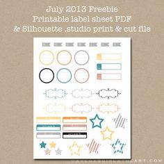 A Vegas Girl at Heart: Silhouette Print & Cut Label Sheet - July 2013 Freebie