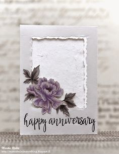 I see this done with the Happy Autumn stamp set. You could easily do it with your recipients favourite colour (keeping the monochromatic tones of course). This would make a lovely wedding or even sympathy card too.