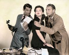 His Girl Friday, Cary Grant, Rosalind Russell, Ralph Bellamy.