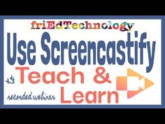 How to Use Screencastify for Teaching Online / Distance Learning (Free Webinar) Learning Resources, Teaching Tools, Teaching Ideas, Educational Technology, Educational Games, Instructional Technology, Instructional Strategies, Flipped Classroom, Apps