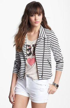 Stoosh Ponte Knit Moto Jacket (Juniors)   Nordstrom $42