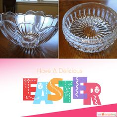 Crystal Serving Bowls!! Perfect for the Easter Holiday!!   https://www.etsy.com/shop/TodaysTreasuresss?utm_source=Pinterest&utm_medium=Orangetwig_Marketing&utm_campaign=Product%20Poster
