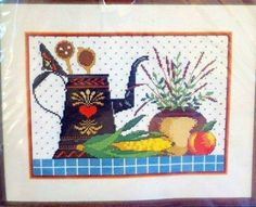 Dimensions Cross Stitch Kit Wysocki Collectibles Still Life 3541 Kitchen Items  #Dimensions #CountedCrossStitch