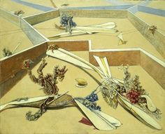 "Reproduction of Max Ernst's ""Garden Airplane Traps"""