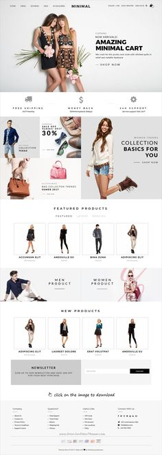 Minimal Cart is clean and modern design respo… - MKS Web Design Website Design Inspiration, Fashion Website Design, Website Design Layout, Design Blog, Web Layout, App Design, Fashion Design, Design Ideas, Design Layouts