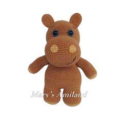 Archie Hippo the Ami - Amigurumi crochet pattern - Digital Download