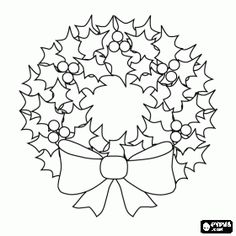 Pretty Wreath Coloring Pages Christmas Templates Natale Ricamo