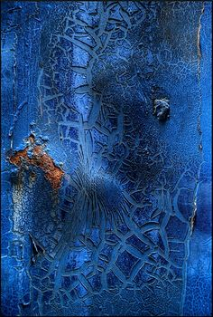 Color Me Blue Dumpster Blue ~ by Gavin Kerslake ~ Rust Art Grunge, Peeling Paint, Beautiful Textures, Blue Aesthetic, Of Wallpaper, Abstract Photography, My Favorite Color, Textures Patterns, Shades Of Blue
