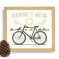 Bicycle Art Love Outdoors Nature Lover Bike Art Cycling by DexMex Best Road Bike, Bike Photography, Bicycle Art, Cycling Art, Office Art, Watercolor Cards, Custom Bikes, Framed Art Prints, Place Card Holders