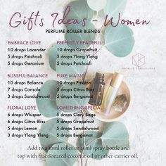 Some beautiful perfume rollers that you can make up and gift this year for Christmas. Cue a nice label and organza bag and you are all… Perfume Parfum, Perfume Hermes, Perfume Lady Million, Perfume Versace, Fragrance Parfum, Fragrances, Doterra Essential Oils, Essential Oil Blends, Young Living Oils