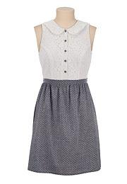 Lace Top Dot Print Tank Dress - maurices.com