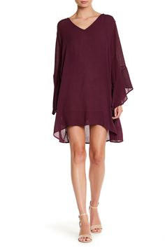 Bell Sleeve Shift Dress by Lush on @nordstrom_rack