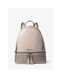1d6776ad648 Michael Kors - Gray Rhea Medium Leather Studded Backpack - Lyst