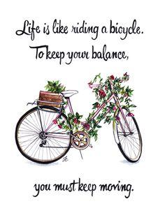 Floral Bicycle #dollmemories #flowers #paris #words #quote