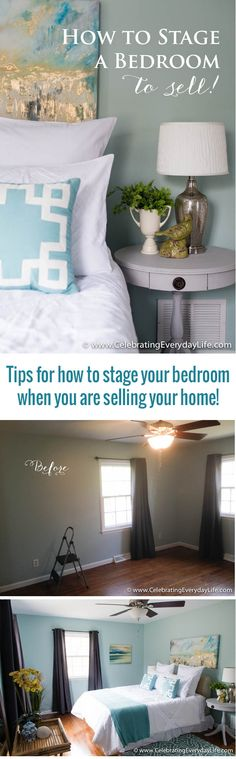 Tips for How to Stage a Bedroom to sell! - Statistics show that empty houses are harder to sell because it can be challenging for many people to imagine how spaces can be set up.