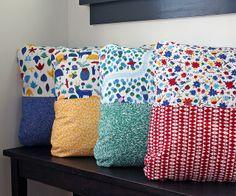 Half n Half Pillow tutorial by Michelle Engel Bencsko | Cloud9 Fabrics, via Flickr