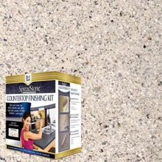 DAICH SpreadStone Mineral Select Sundance Countertop Refinishing Kit adds an elegant new surface to your existing laminate kitchen and bath countertops. Countertop Refinishing Kit, Countertop Paint Kit, Painting Countertops, Tile Countertops, Countertop Makeover, Resurface Countertops, Kitchen Countertop Redo, Rustoleum Countertop Transformations, Painting Kitchen Counters
