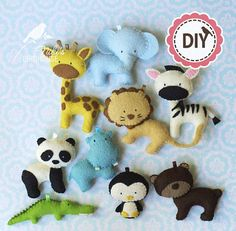 ZOO friends  DIY Zoo animals  make your own toys  pattern