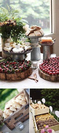 Ideas originales para presentar la comida en las bodas. Cake Stands