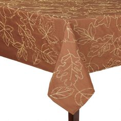 One of my favorite discoveries at ChristmasTreeShops.com: Leaf Embroidered Tablecloth
