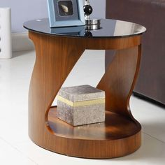 Curve Side Table with Storage Side Table Lamps, Side Table With Storage, Round Side Table, Side Tables, Mens Bedding Sets, Oak Furniture Superstore, Oval Coffee Tables, Glass Shelves, Glass Table