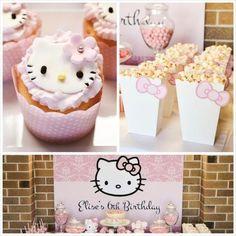 Pastel Pink Hello Kitty fiesta de cumpleaños temática con un montón de ideas lindas través de ideas de la fiesta de Kara | KarasPartyIdeas.com #hellokitty #partyideas #decor (18)