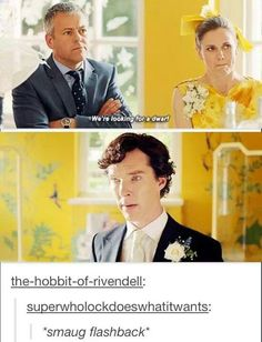 Ha.  (Also at the end when Mycroft called him a dragon-slayer, I thought, no, he is a dragon, silly.)