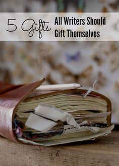 Gifts for Writers — If you're a writer, here are 5 gifts that every writer should gift themselves. These gifts for writers don't cost a thing and are well worth the investment in your writing practice and craft.