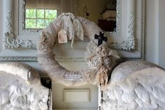 Vintage Lace Wreath by Rebeccavintageliving on Etsy, $45.00