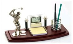 Golf Desk Organizer Promotional Products From Wood Arts Universe Arranging Bookshelves, Unique Gifts, Great Gifts, Free Artwork, Office Essentials, Best Blogs, Desk Organization, Wood Art, Gift Guide