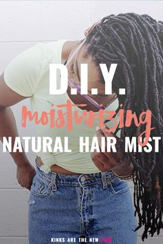 How to make your own moisturizing hair mist with just 4 ingredients. #naturalhair