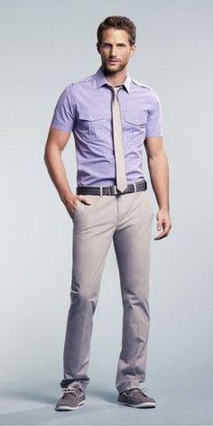 Short sleeved military shirt for hot summer days.