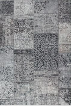 Karpet Vintage Print 1500 Grey